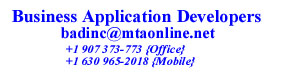 Business Application Developers Contact Info